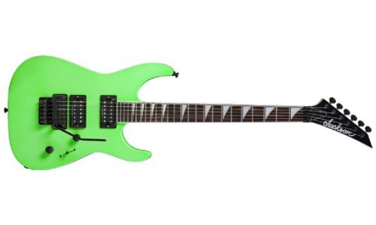 The Jackson SLX Soloist Electric Guitar Floyd Rose Special Kawasabi Green